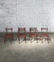 ensemble chaises robert malaval rouge fauteuil vintage annee50 5francs 1 172x198 - Ensemble 2 chaises et 2 fauteuils  René Malaval édition Bloc Métal