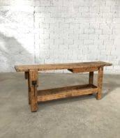 etabli menuisier 221cm ancien bois meuble metier 5francs 1 172x198 - Ancien établi d'atelier de menuisier en chêne 221 cm