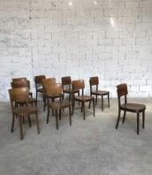 lot 21 chaises bistrot thonet bar vintage 5francs 1 172x198 - Ensemble de 21 chaises de bistrot bar Thonet année 50