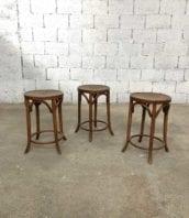 lot 3 tabourets bistrot baumann bois hauteur 55cm 5francs 1 1 172x198 - Ensemble de 3 tabourets BAUMANN de bistrot hauteur 55cm