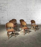 lot 6 chaises bistrot rotin brasserie george lyon annee 30 5francs 1 172x198 - Ensemble de 6 chaises bistrot année 30 de la Brasserie Georges Lyon