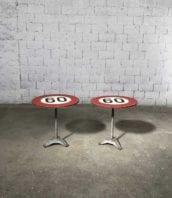 table bistrot 60 annee30 fonte bois 5francs 1 172x198 - Paire tables de bistrot pieds art déco année 30
