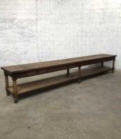 ancienne table drapier chene 486cm meuble metier 1900 5francs 1 172x198 - Rare et immense table de drapier en chêne massif 486 cm
