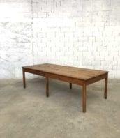 ancienne table travail 271cm bois 5francs 1 172x198 - Ancienne grande table de travail d'atelier en pin 271 cm