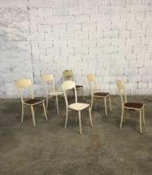 chaise metal hopital lyon patine origine 1920 5francs 1 172x198 - Ensemble 6 chaises de l'hôpital Edouard Hériot patine d'origine.