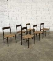 ensemble 6 chaises vintage scandinave corde niels o moller 5francs 1 172x198 - Ensemble de 6 chaises vintage en cordes dans le style Niels O Moller