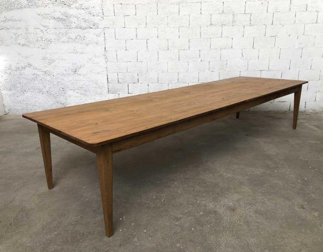 Ancienne très grande table de ferme de 12 cm bois massif