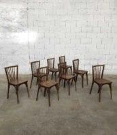 lot 8 chaises baumann dossier original 5francs 1 172x198 - Ensemble 8 chaises bistrot Baumann avec dossier original
