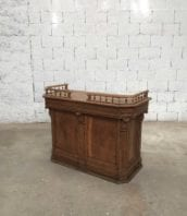 banque comptoire ancien chene meuble de metier 5francs 1 172x198 - Ancienne banque d'accueil année 1900 en chêne massif 125cm