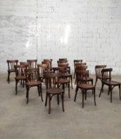 chaise bistrot bauman annee50 80cm 5francs 1 172x198 - Chaises de bistrot Baumann années 50 foncées ensemble de 20