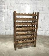 etagere a vin bois annee1900 112bouteilles 5francs 3 172x198 - Étagère à vin en chêne 112 bouteilles double faces année 1900