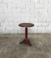 """table bistrot cadenet laglaneuse vaucluse 55cm 5francs 1 1 172x198 - Table de bistrot """"La Glaneuse"""" en métal rouge 55cm"""