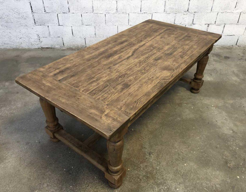 Ancienne Table De Ferme En Chene Avec Rallonges 200cm