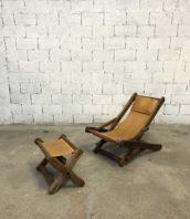 chaise longue cuir brutaliste annee60 vintage 5francs 1 172x198 - Chaise longue vintage en cuir design Brutaliste année 60