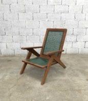 fauteuil jardin pierre jeanneret année50 30cm 5francs 1 172x198 - Fauteuil de jardin style Pierre Jeanneret année 50 assise 30cm