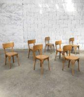 lot 16 chaises baumann grand dossier claire bistrot 5francs 1 172x198 - Lot de 16 chaises de bistrot Baumann avec grand dossier en bois clair
