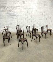 lot 22 chaise baumann bois courbe fonce bistrot 5francs 1 172x198 - Lot de 24 Chaises de bistrot Baumann dossier courbé en bois foncé