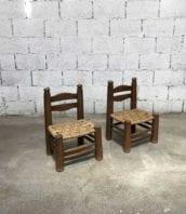 petites chaises bois lot de 2 30cm 5francs 1 172x198 - Paire petites chaises en bois style Charles Dudouyt