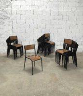 Lot 18 chaises universite mullica modèle 510 pied compas industriel assise 44cm 5francs 1 172x198 - Ensemble de 18 chaises d'école d'atelier MULLCA 510 pieds compas