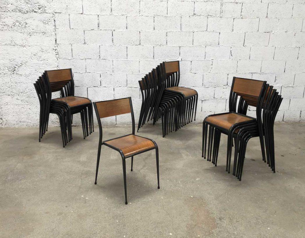 Chaise D École Mullca ensemble de 18 chaises d'école d'atelier mullca 510 pieds compas