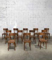 Lot 20 chaises baumann miel bistrot assise 45cm 5francs 1 172x198 - Ensemble de 20 chaises bistrot Baumann couleur miel années 60