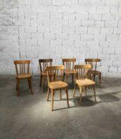 """Lot 6 chaises baumann claire dossier barreaux bistrot hauteur 45cm 5francs 1 172x198 - Lot de 12 chaises de bistrot Baumann avec barreaux modèle """"Macon"""""""