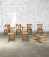 Lot 7 chaises baumann peids compas bois bistrot assise 45cm 5francs 1 172x198 - Ensemble de 7 chaises de bistrot Baumann avec pieds compas