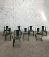 Lot 9 chaises tolix T4 verte industriel assise 45cm 5francs 1 172x198 - Ensemble de 9 chaises Tolix T4 vertes hauteur assise 45cm