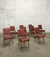 Lot 9 chaises vintage simili cuire annee60 assise 45cm 5francs 1 172x198 - Lot de 9 chaises vintage simili cuir années 60 hauteur assise 45cm