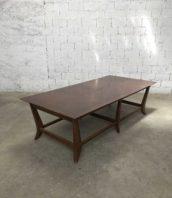 Table de reunion longueur 250cm annee 60 5francs 1 172x198 - Ancienne table de réunion des années 60 longue 250cm