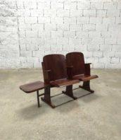 fauteuil de cinéma vintage 2places avec strapontin Stella annees 50 hauteur assise 38cm 5francs 1 172x198 - Fauteuil de cinéma Stella vintage 2 places avec strapontin année 50