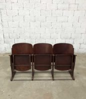 fauteuil de cinéma vintage Stella annees 50 hauteur assise 38cm 5francs 1 172x198 - Fauteuil de cinéma Stella vintage 3 places année 50
