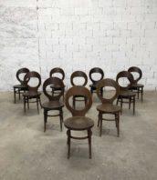 """lot de 16 chaises de bistrot baumann modele mouette marron bois hetre hauteur assise 45cm 5francs 1 172x198 - Lot de 16 chaises de bistrot Baumann modèle """"mouette"""" marron foncé"""