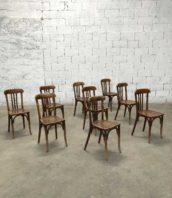 lot de 19 chaises de bistrot baumann dossier haut annees40 bois hetre hauteur assise 46cm 5francs 1 172x198 - Lot de 19 Chaises de bistrot Baumann dossier haut en hêtre années 40
