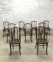 lot de 20 chaises de bistrot thonet assise gaufre annees 1900 bois hetre hauteur assise 47cm 5francs 1 172x198 - Lot de 20 chaises de bistrot Thonet assise gaufrée