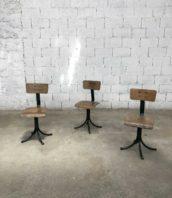 lot de 3 chaises atelier pivotonates verte hauteur assise 45cm 5francs 1 172x198 - Lot de 3 chaises d'atelier pivotantes verte hauteur assise 45cm