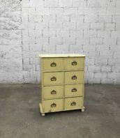 meuble de metier 8 tiroirs annees 50 longueur 112cm 5francs 1 172x198 - Meuble de métier vintage avec 8 tiroirs années 50 longue 112cm