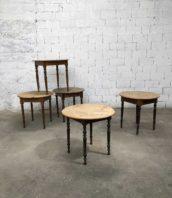 table de bistrot pieds tournés pin plateau rond années 30 diametre 80cm 5francs 1 1 172x198 - Table de bistrot plateau rond et pieds tournés diamètre 80cm