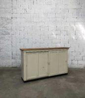 enfilade porte coulissante atelier patine bois 5francs 1 172x198 - Ancien buffet d'atelier 2 portes coulissantes patine d'origine