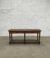ancienne table console de drapier chêne massif longue 200cm 5francs 1 172x198 - Ancienne petite table de drapier en chêne massif longueur 200 cm