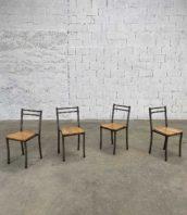 ensemble 4 chaises metal assise chêne annee 30 5francs 1 172x198 - Ensemble de 4 chaises année 30 hauteur assise 46cm