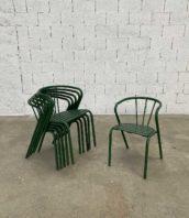 ensemble 6 fauteuils verts bois metal style tolix hauteur assise 43cm 5 francs 2 172x198 - Ensemble de 6 fauteuils style Tolix FT5 hauteur assise 43cm