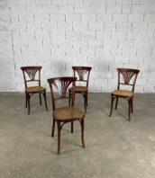 ensemble de 4 chaises de bistrot thonet wien modele 221 hauteur assise 47cm dossier a eventail 5francs 1 172x198 - Ensemble de 4 chaises de bistrot Thonet WIEN modèle n°221