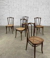 ensemble de 5 chaises de bistrot thonet wien modele 56 hauteur assise 47cm 5francs 1 172x198 - Ensemble de 5 chaises de bistrot Thonet WIEN modèle n°56