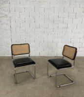 fauteuil B32 Marcel Breuer pour Thonet dossier cannage assise simili cuire 5francs 1 172x198 - Fauteuils n°B32 Marcel Breuer pour Thonet cannage assise simili-cuir