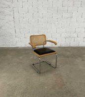 fauteuil B64 Marcel Breuer pour Thonet dossier cannage assise simili cuire 5francs 1 172x198 - Fauteuil n°B64 Marcel Breuer pour Thonet cannage assise simili-cuir