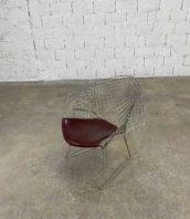 fauteuil bertoia diamond edition knoll anné 70 assise simili cuir 5francs 1 172x198 - Fauteuil Diamond design Bertoia Edition Knoll assise en simili-cuir