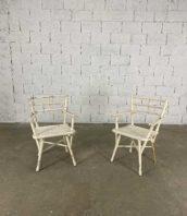 fauteuils de jardin thonet n14104 patine origine blanche hauteur assise 46cm 5francs 1 172x198 - Paire de fauteuils de jardin Thonet n°14104 patine d'origine blanche