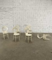 """lot 9 chaises mouette baumann blanches hetre hauteur assise 45cm 5francs 1 e1571916870294 172x198 - Ensemble de 9 chaises de bistrot Baumann modèle """"mouette"""" blanches"""