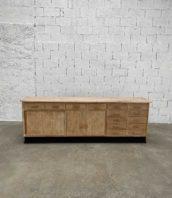 meuble de pharmacie annee50 tiroirs portes coulissantes 248cm 5francs 1 172x198 - Ancien meuble de pharmacie année 50 avec tiroirs et porte coulissante